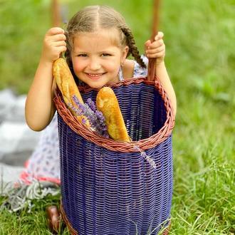 Плетеная тележка Детская тележка Тележка