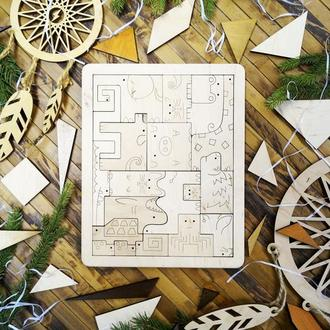 Пазл дерев'яний Тварини 1НФ, пазл деревянный Животные