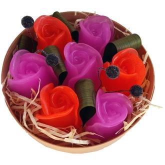 Набор роз из мыла в подарочной упаковке