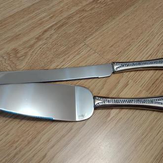 Весільні прилади (лопатка і ніж) для торта