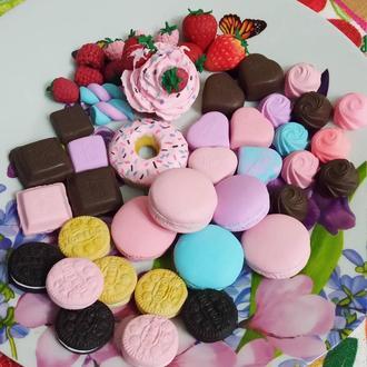 Игрушечные сладости для кукол из полимерной глины
