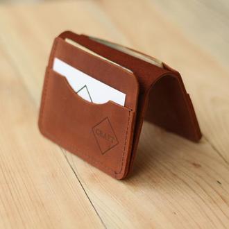 Кожаный мини кошелек. кардхолдер. визитница. чехол для водительского удостоверения