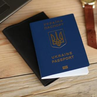 Кожаная обложка на паспорт, загранпаспорт