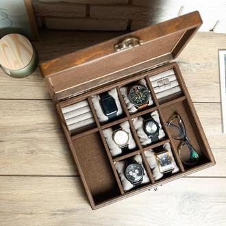 Шкатулка для зберігання годинників DS19-2