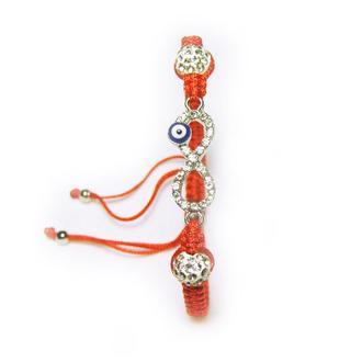 Плетеный браслет с бесконечностью на удачу и от сглаза
