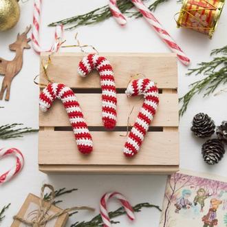 Новогодняя конфета 1 шт. новогодние игрушки вязаные крючком, игрушки на елку