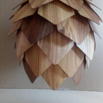 Деревянный светильник, светильник из шпона.