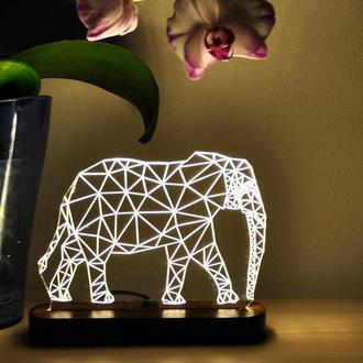"""3D ночник для детей  """"Слон"""""""