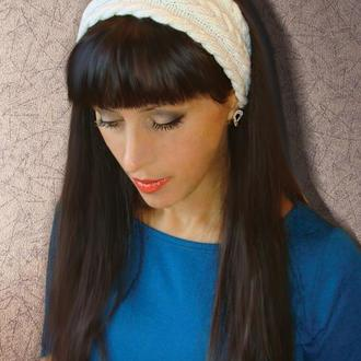 Вязаная повязка на голову - стильный образ