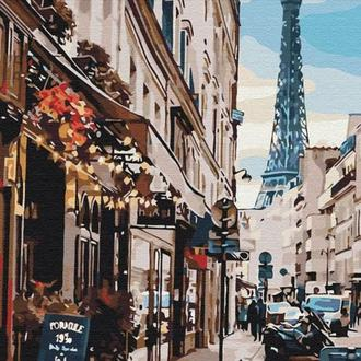 "Картина по номерам ""Париж из за угла"" 40х50"