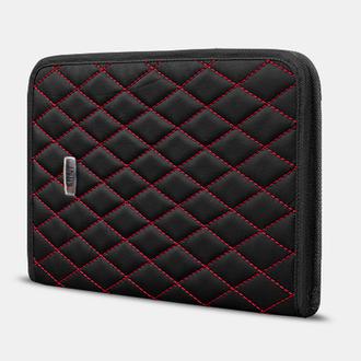 Папка для авто-документов А4 Mini от Carbag Черная с красной строчкой и черной окантовкой