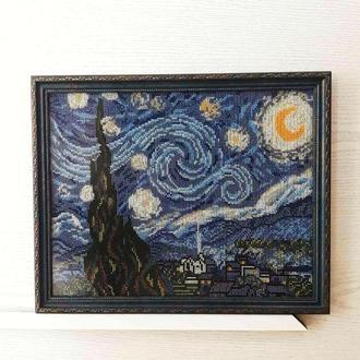 Ван Гог Звёздная ночь картина бисером