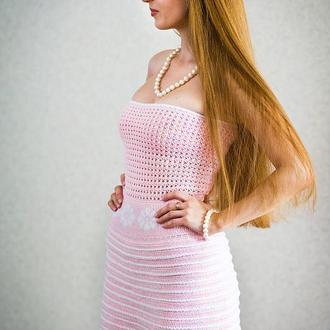 """В'язане плаття  """"Рожевий фламінго"""""""