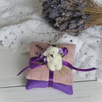 Подарочный комплект Лавандовых саше-подушечек, размер 9 х 7 см