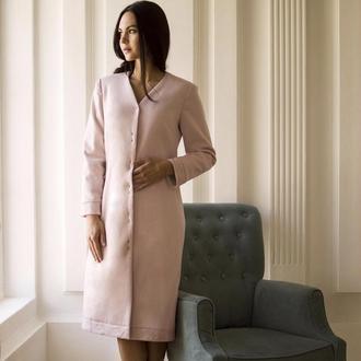 Пальто кашемировое нежно-розовое ′Пудра′