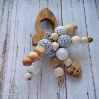 Грызунок прорезыватель Ракета для зубов, подарок новорожденному