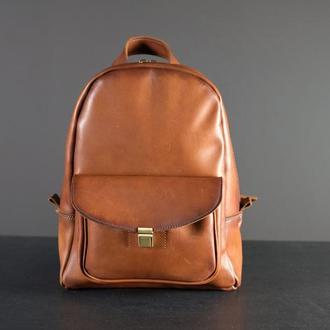 """Женский кожаный рюкзак """"Стамбул"""", кожа итальянский краст, цвет коричневый"""