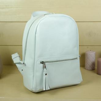 """Женский кожаный рюкзак """"Лимбо"""", размер большой, гладкая кожа, цвет белый"""