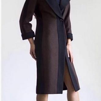 Пальто кашемировое коричневое ′Черный шоколад′