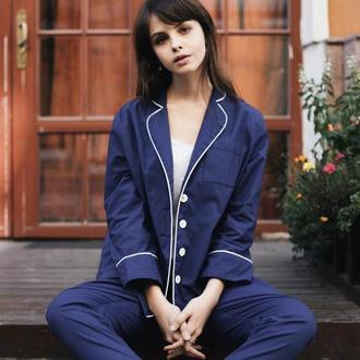 Пижама синяя Оверсайз