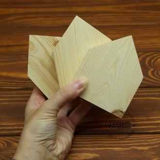 Деревянная заготовка домик, набор деревянных заготовок, заготовка  из дерева, набор из 3х штук.