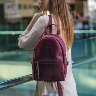 """Женский кожаный рюкзак """"Лимбо"""", размер средний, винтажная кожа, цвет бордо"""