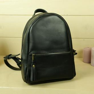 """Женский кожаный рюкзак """"Лимбо"""", размер средний, кожа итальянский краст, цвет черный"""