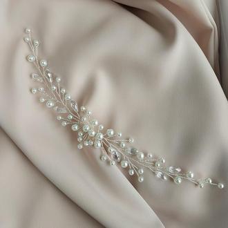 Гілочка в зачіску нареченої на весілля, прикраса для волосся, гребінь, випускний