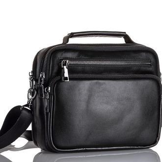 Барсетка кожаная - мужская плечевая сумка Zagora ZV-019-1