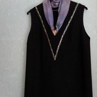 Платье шерстяное р.42 цвета бордо повседневное