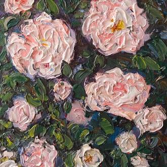 """Авторская картина  маслом """"Пора роз"""""""