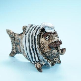 Статуэтка Рыбки капитана Фигурка в виде рыбы моряка fish figurine