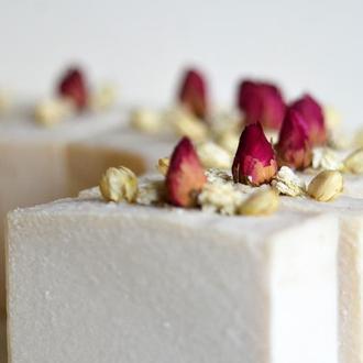 Біла Троянда натуральне мило з сіллю