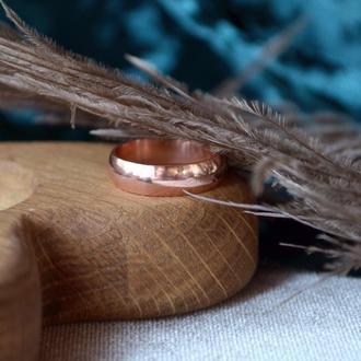 Медное обручальное кольцо