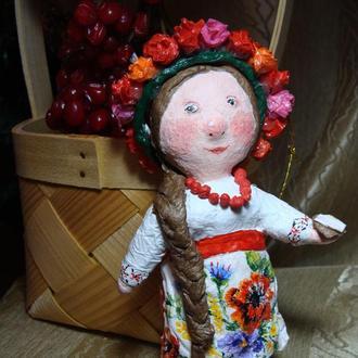 Ватная игрушка Украинка