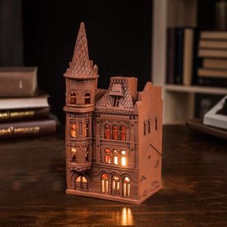 """Керамічний будиночок свічник """"Замок Барона"""""""