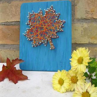 """Продам картину """"Кленовый лист"""" в стиле String Art"""