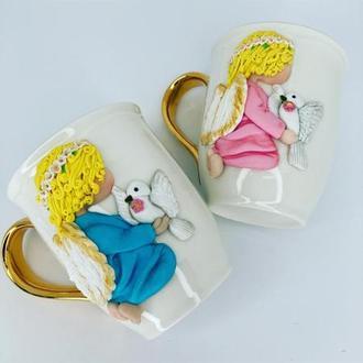 Чашки с ангелочками
