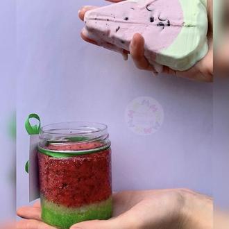 Гидрофильный сахарный скраб Арбуз