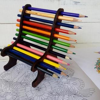 Подставка для карандашей. Деревянная.
