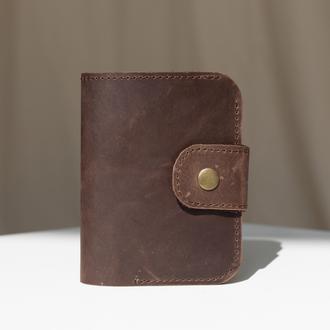 Кошелек ручной работы арт. 103 коричневого цвета из натуральной винтажной кожи
