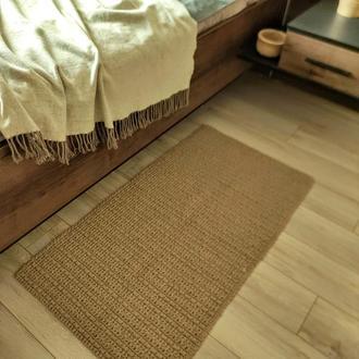 Вязаный коврик Ковер из джута Плетёный ковер из джута.