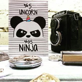 Обложка на паспорт PANDA-UNICORN
