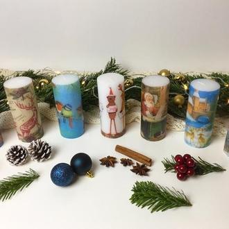 Свечи к Рождеству и Новому году