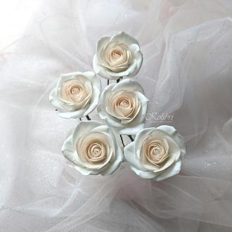 Шпильки для волос с маленькими розами