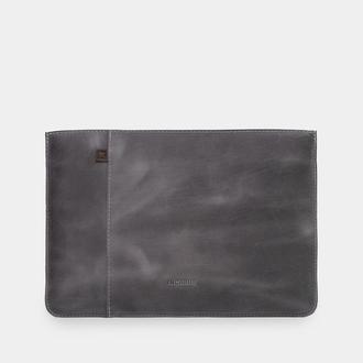 """Сіра накладка на ноутбук з натуральної шкіри для Еппл макбук Ейр 13 """", 15"""" 2016-2020 - Brick"""