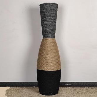 Напольная ваза. Высокая напольная ваза. Декор интерьера в стиле лофт
