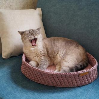 Овальная лежанка для кота 45 х 30 см