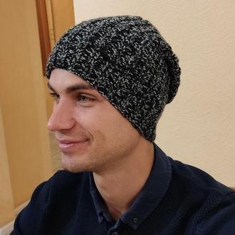 Мужская шапка бини стильная - демисезон/зима