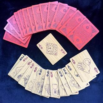 Дерев'яна покерная колода карт